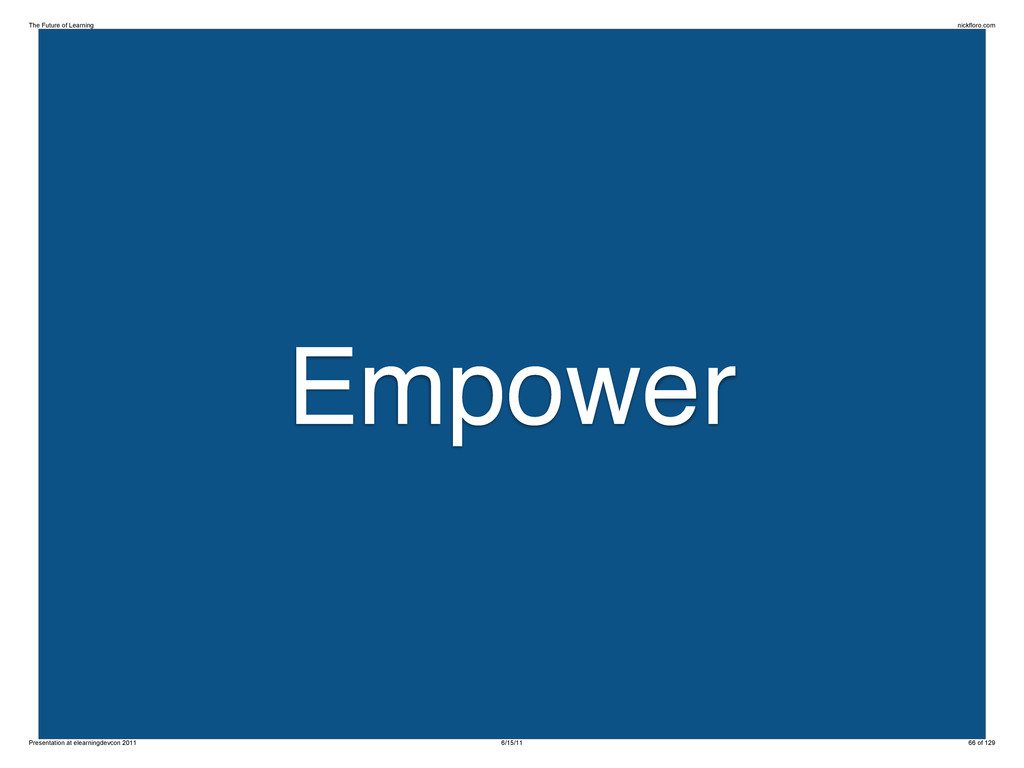 Empower The Future of Learning nickfloro.com Pr...