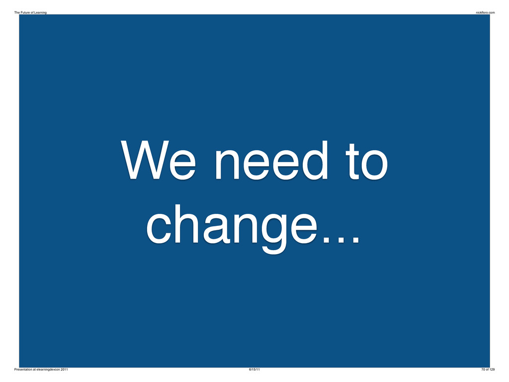 We need to change... The Future of Learning nic...