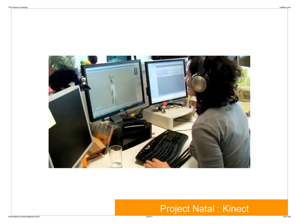 Project Natal : Kinect The Future of Learning n...
