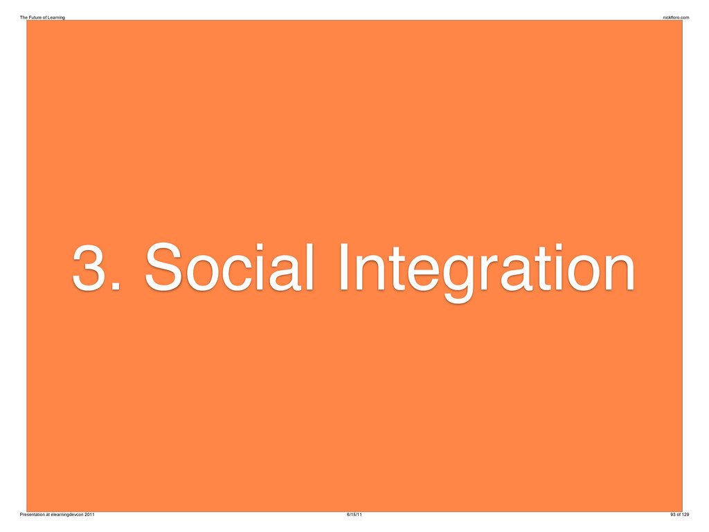 3. Social Integration The Future of Learning ni...