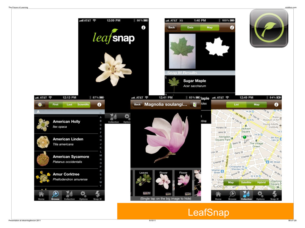 LeafSnap The Future of Learning nickfloro.com P...