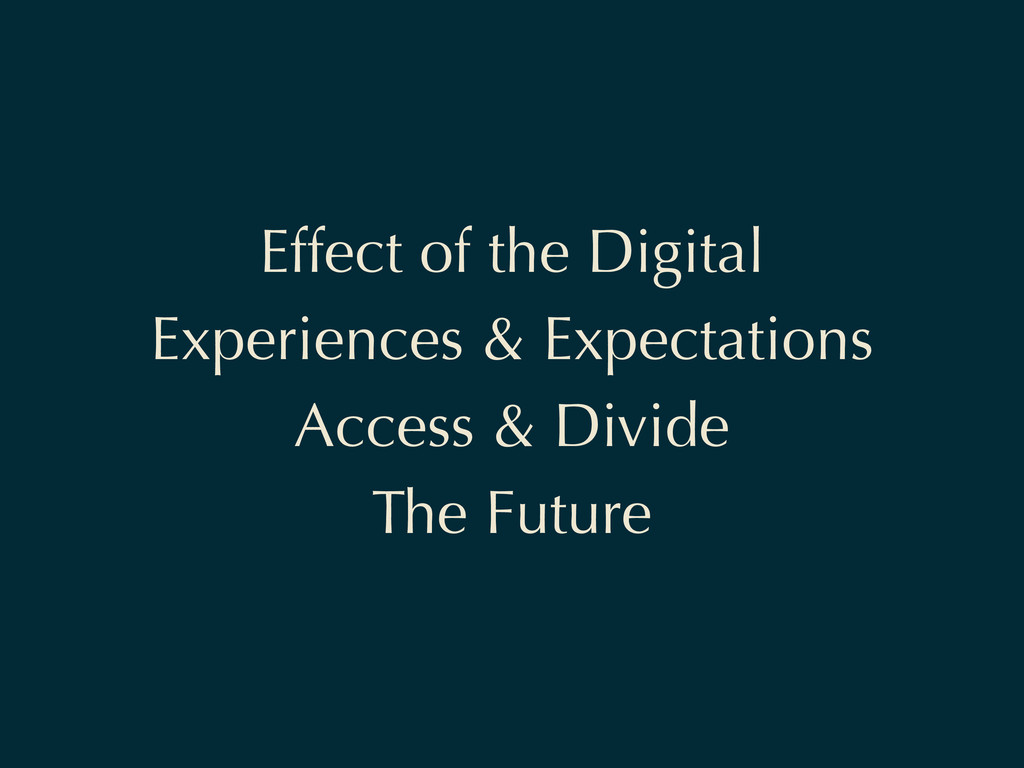 Effect of the Digital Experiences & Expectation...