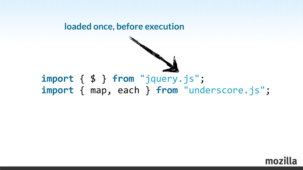 """import { $ } from """"jquery.js""""; i..."""