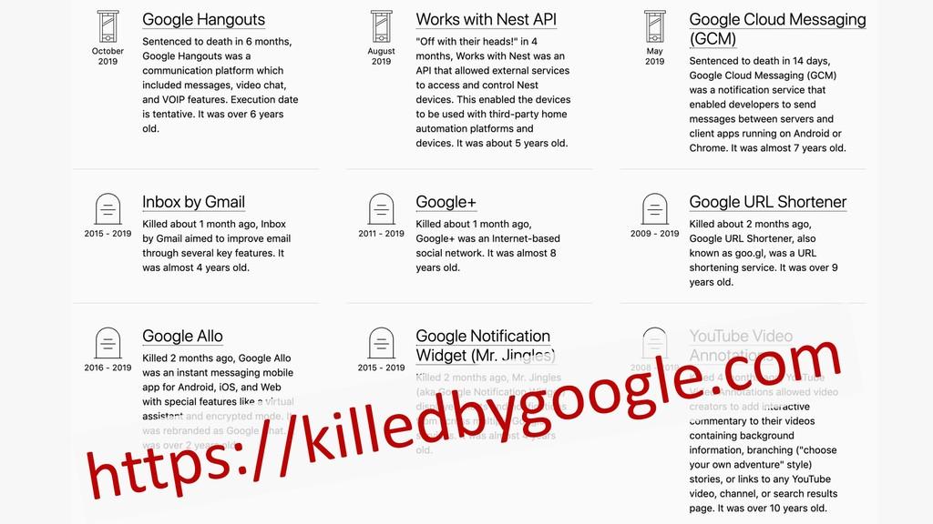 https://killedbygoogle.com