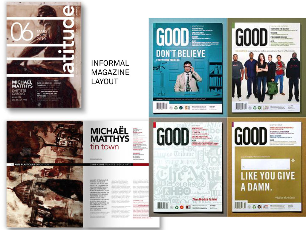 INFORMAL MAGAZINE LAYOUT