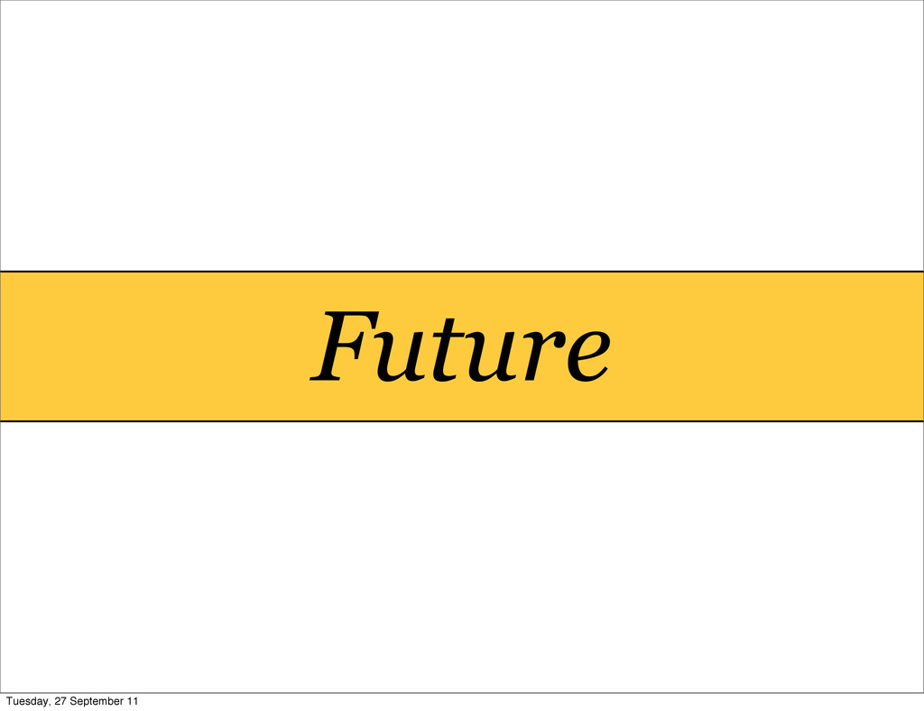 Future Tuesday, 27 September 11