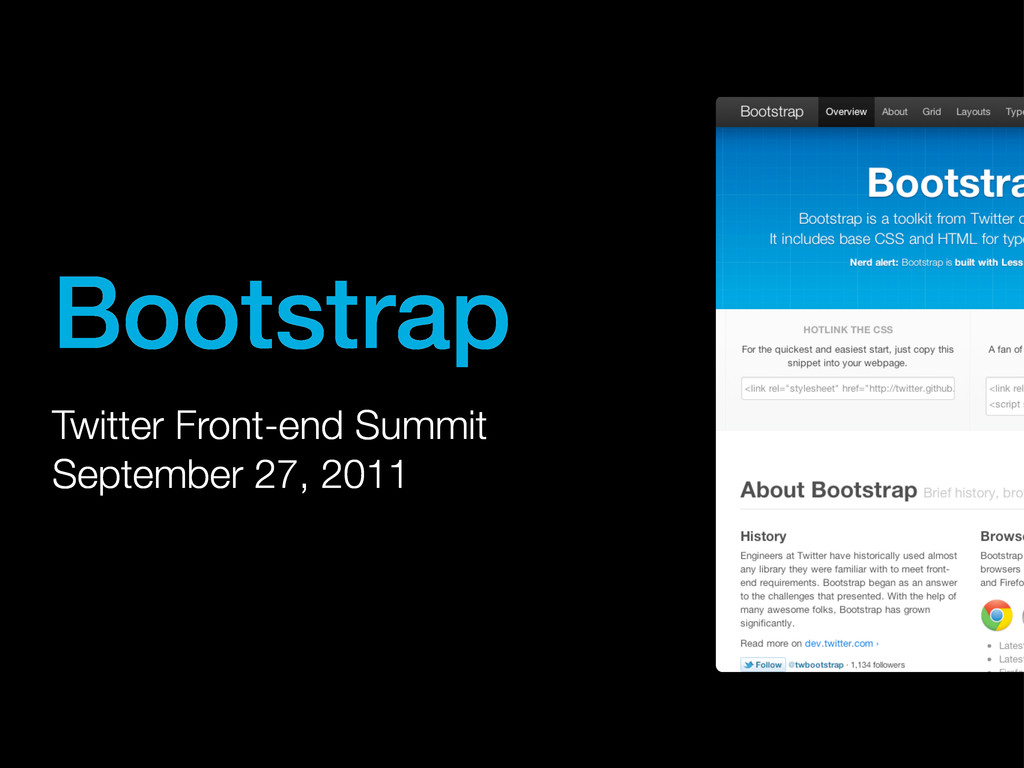 Bootstrap Twitter Front-end Summit September 27...