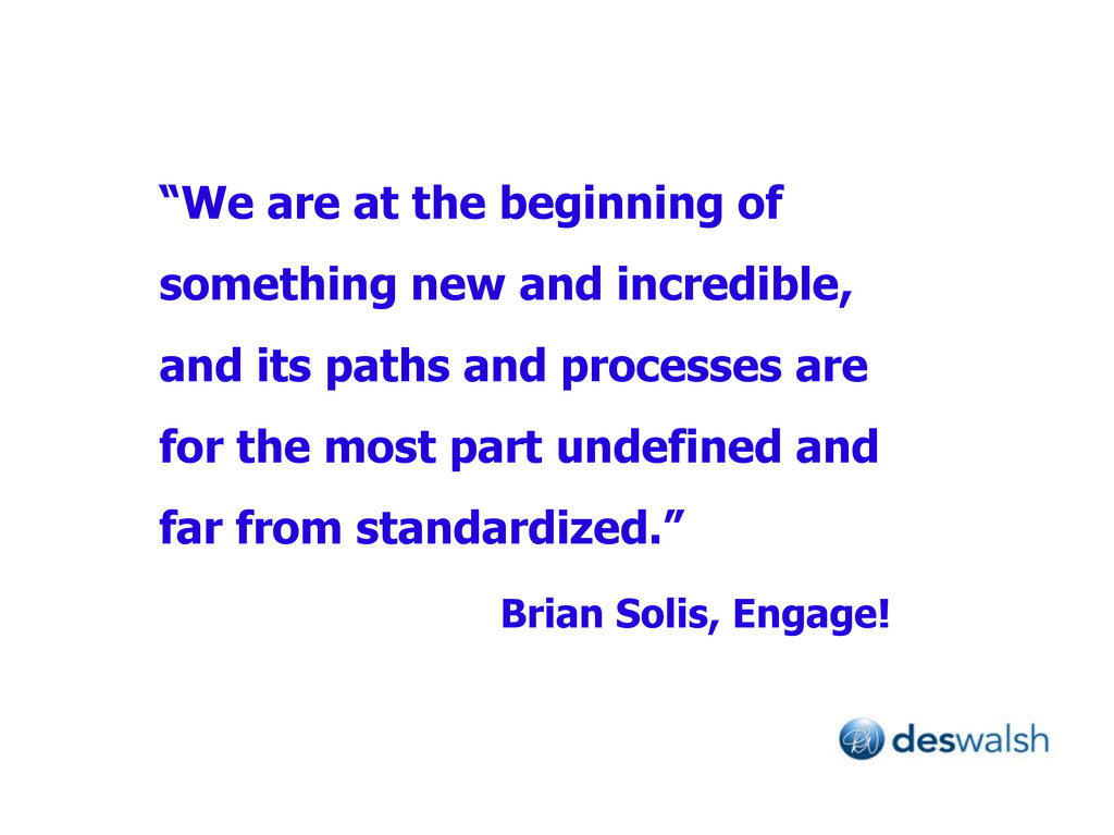 """We are at the beginning of something new and i..."