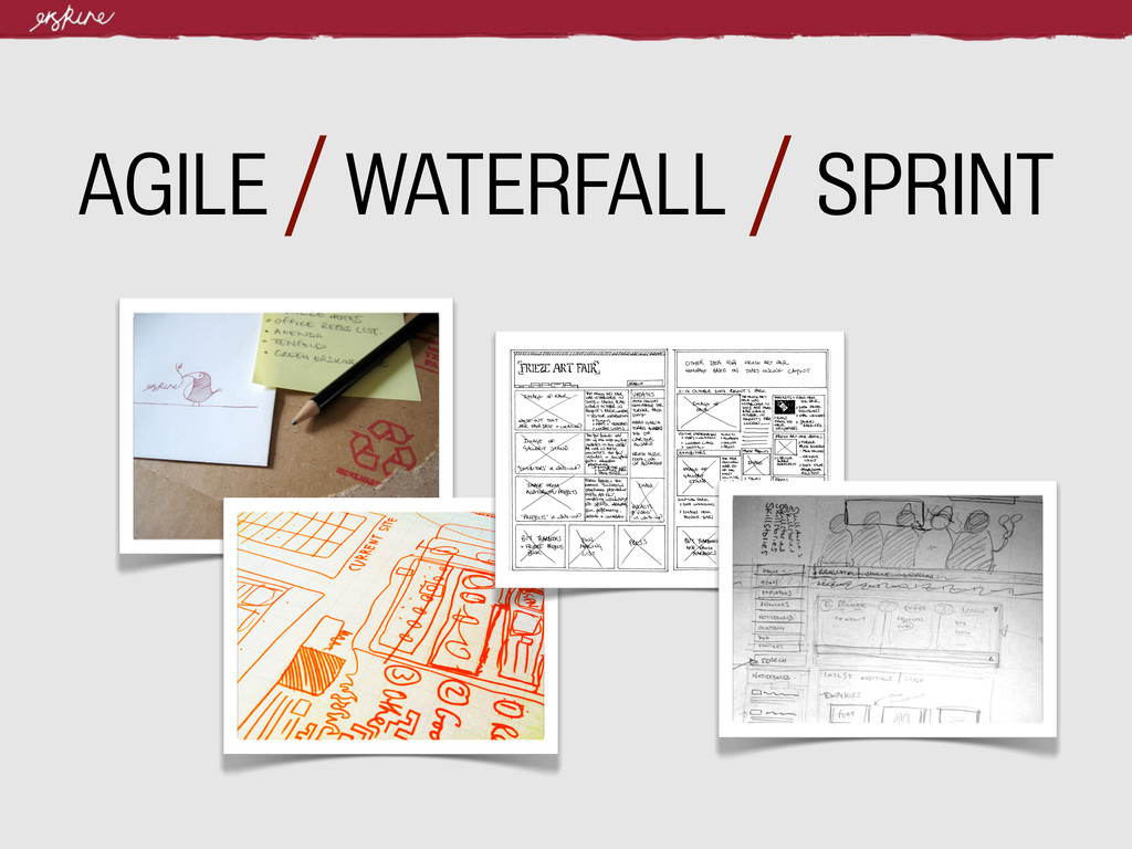 AGILE / WATERFALL / SPRINT