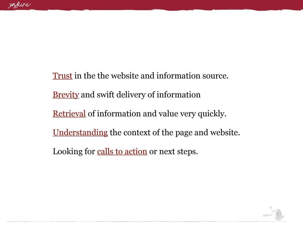 Trust in the the website and information source...