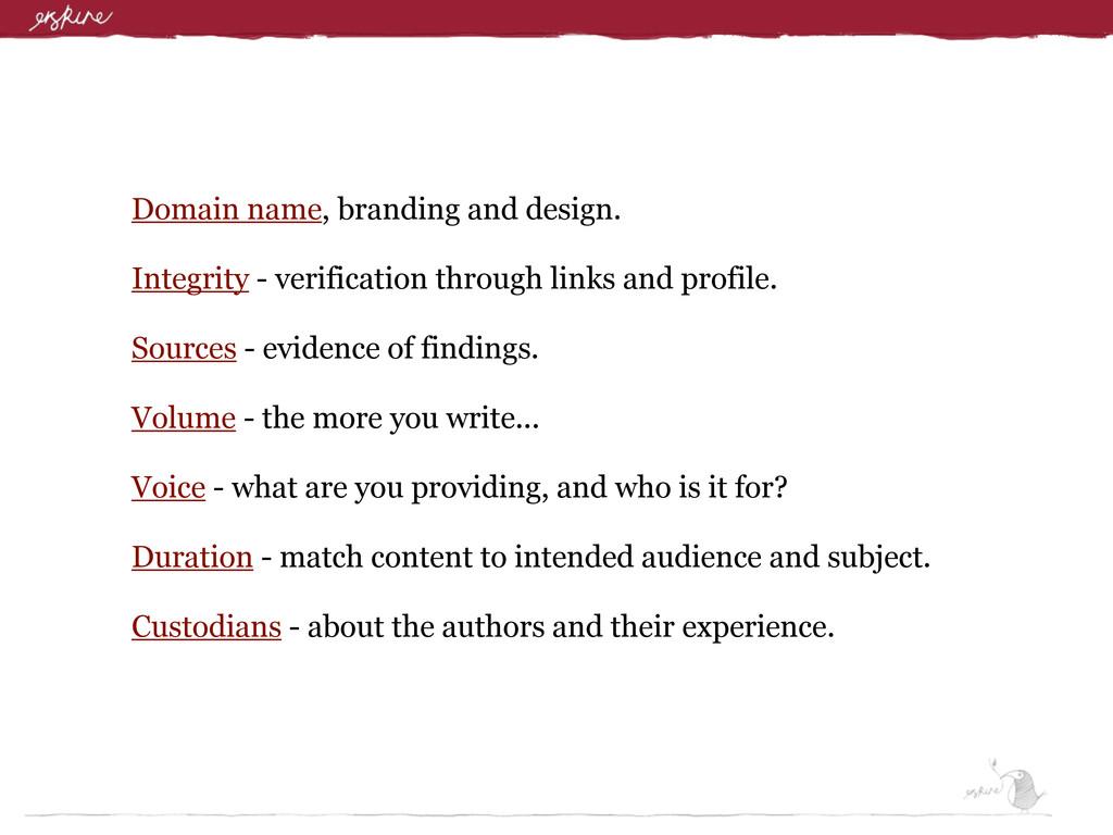 Domain name, branding and design. Integrity - v...