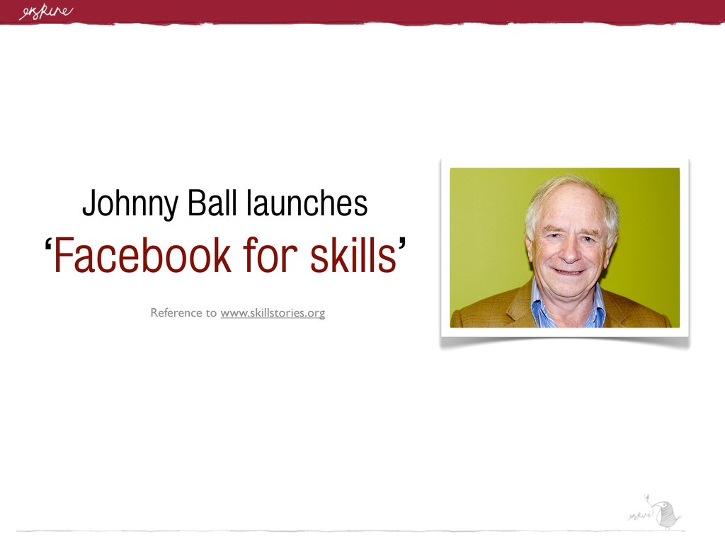 Johnny Ball launches 'Facebook for skills' Refe...