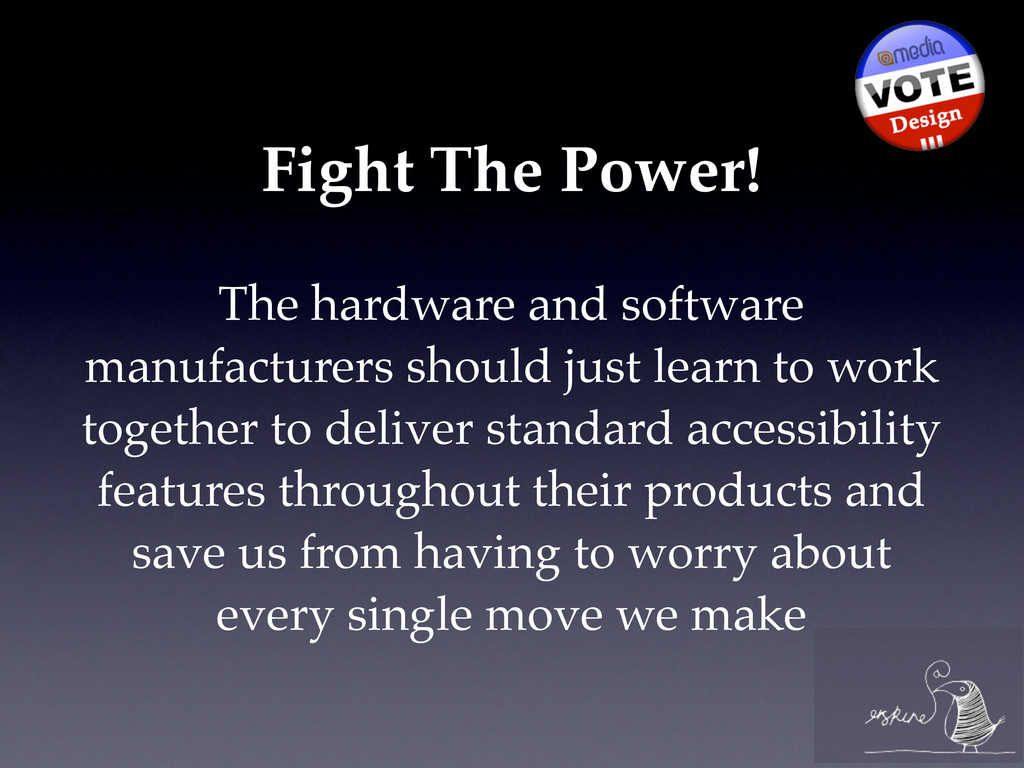 Fight The Power! The hardware and software manu...