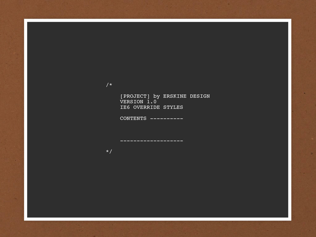 /*  [PROJECT] by ERSKINE DESIGN  VERSION 1.0 ...