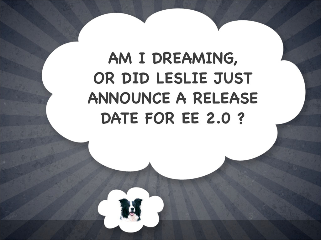 AM I DREAMING, OR DID LESLIE JUST ANNOUNCE A RE...