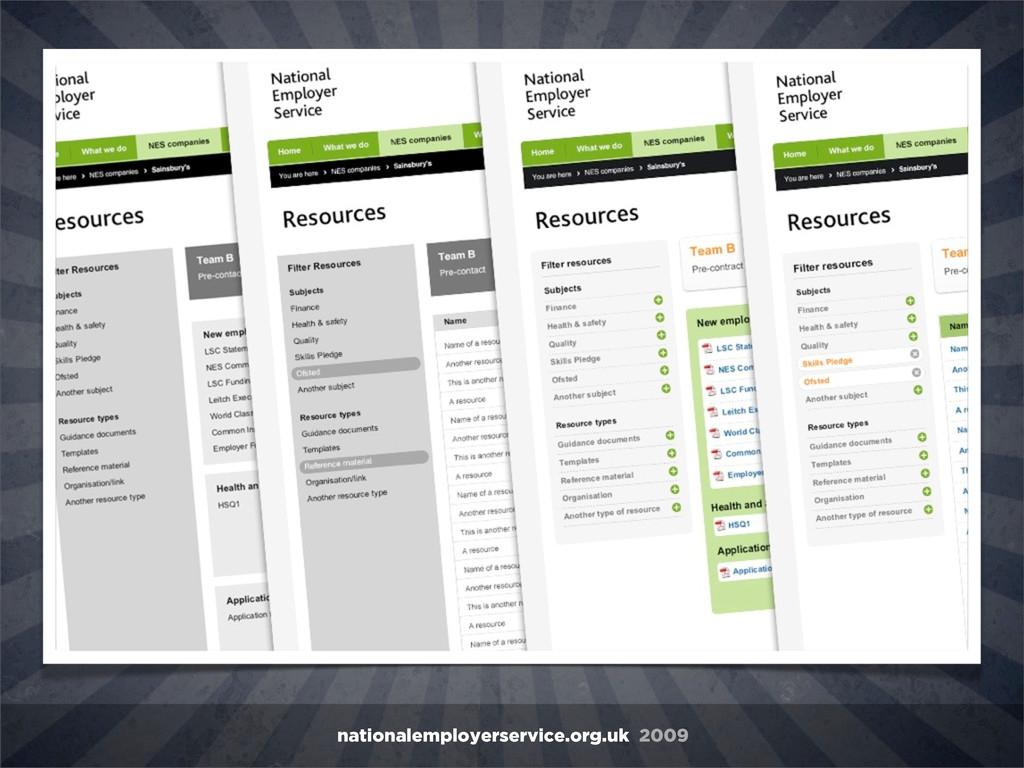 nationalemployerservice.org.uk 2009