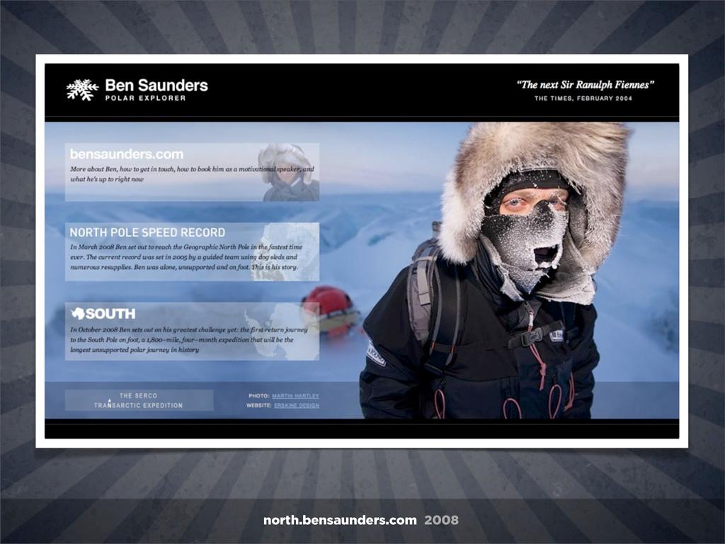 north.bensaunders.com 2008