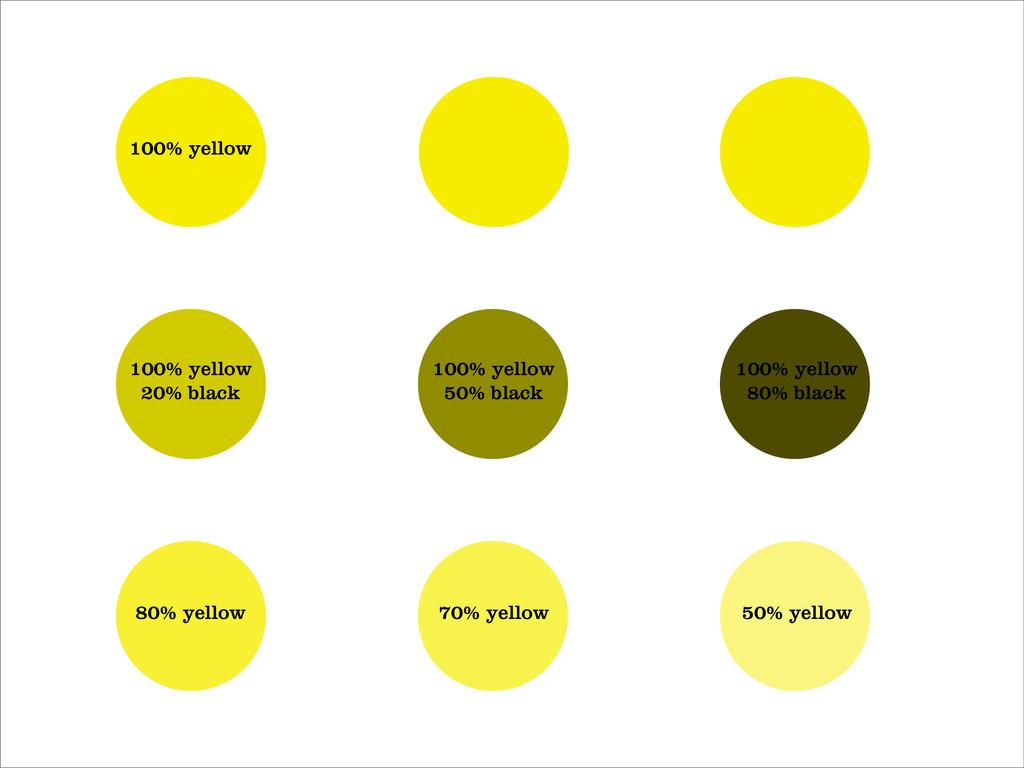 100% yellow 100% yellow 20% black 100% yellow 5...