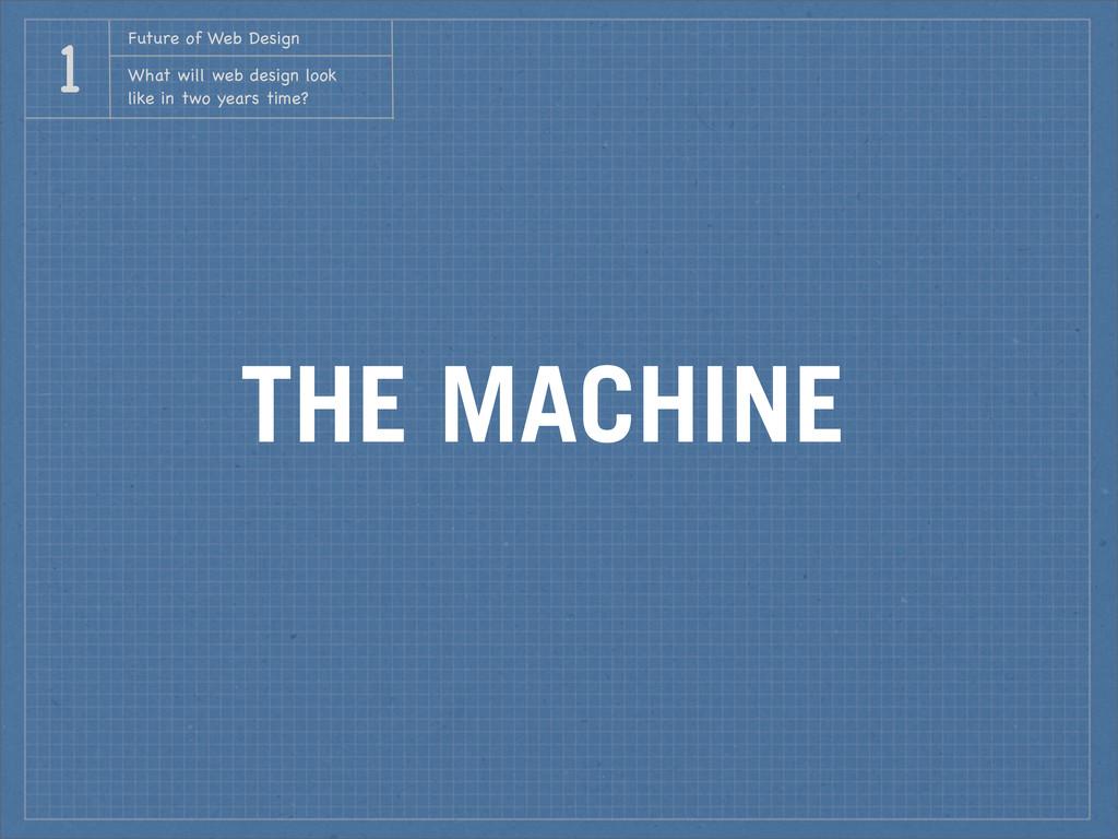 THE MACHINE Future of Web Design What will web ...