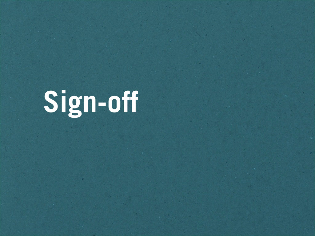 Sign-off