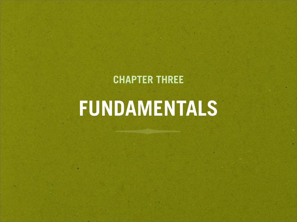 CHAPTER THREE FUNDAMENTALS