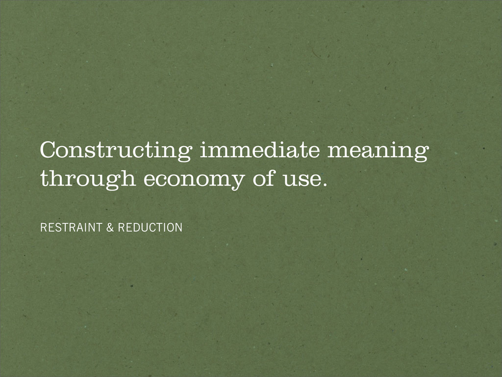 Constructing immediate meaning through economy ...