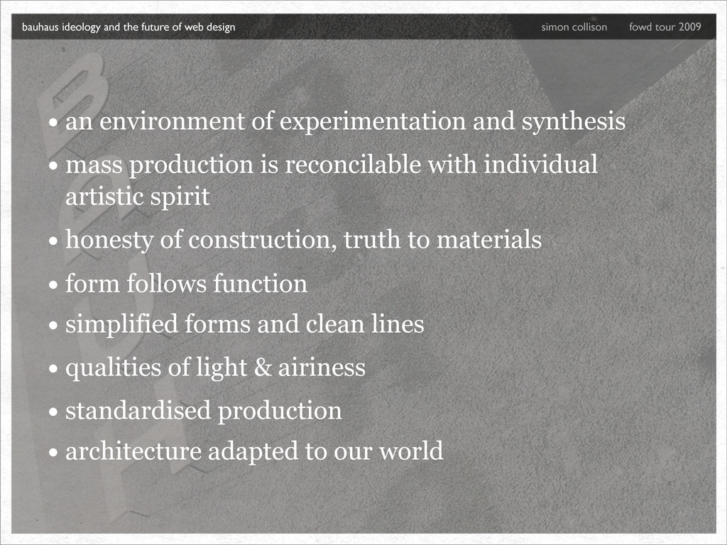 • an environment of experimentation and synthes...
