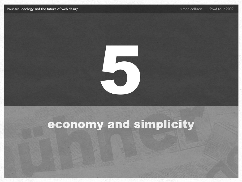 5 economy and simplicity bauhaus ideology and t...