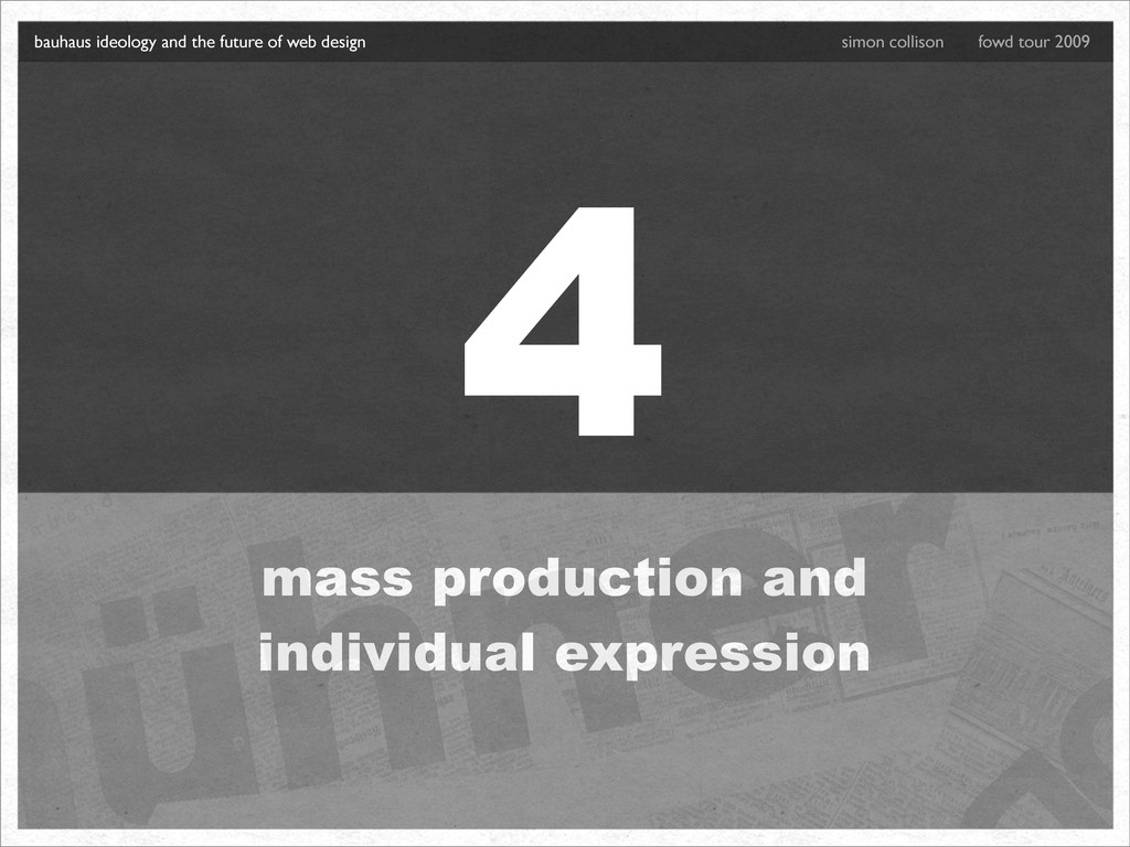 4 mass production and individual expression bau...