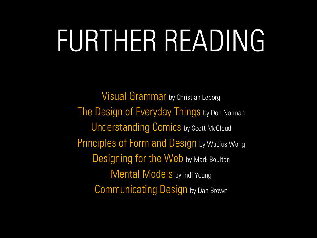 FURTHER READING Visual Grammar by Christian Leb...