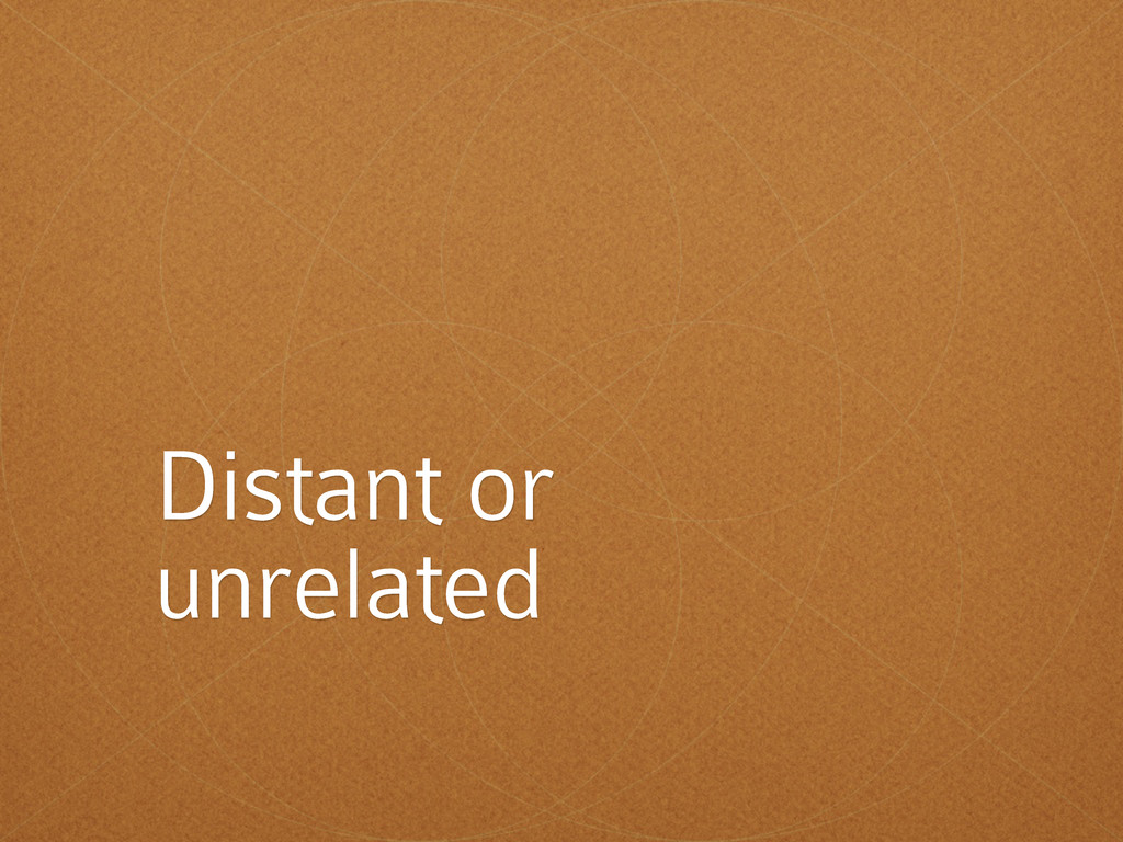 Distant or unrelated