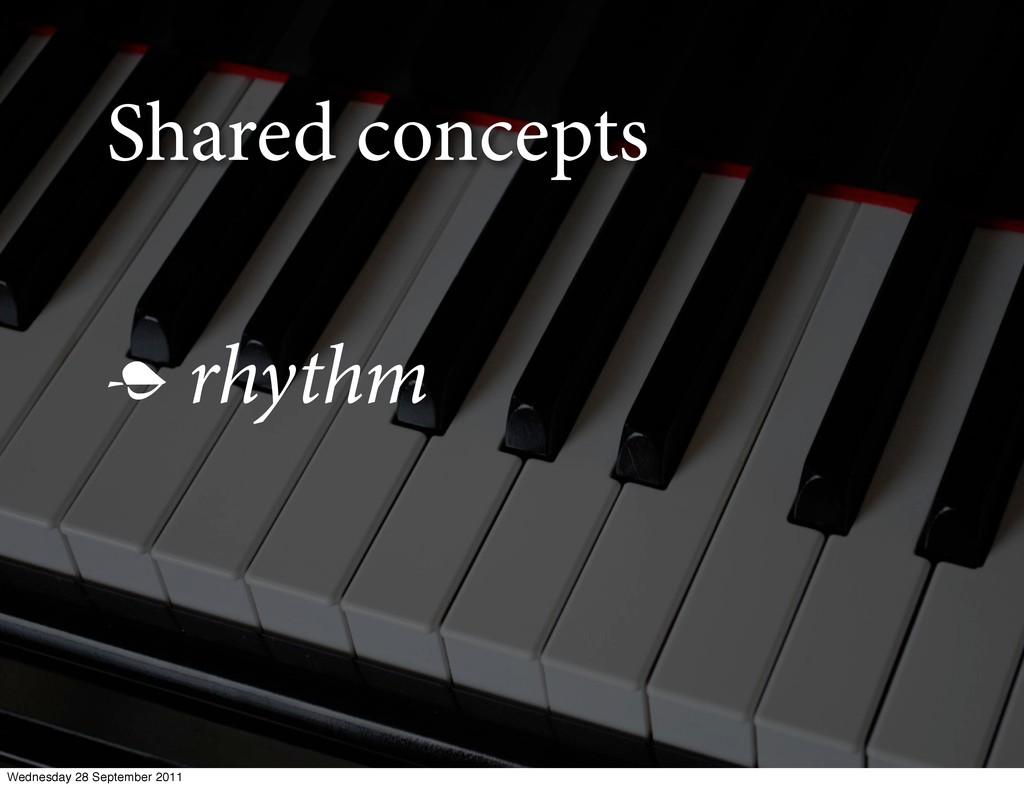 Shared concepts  rhythm Wednesday 28 September...