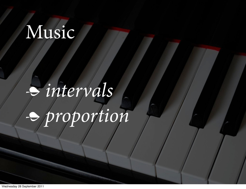 Music  intervals  proportion Wednesday 28 Sep...