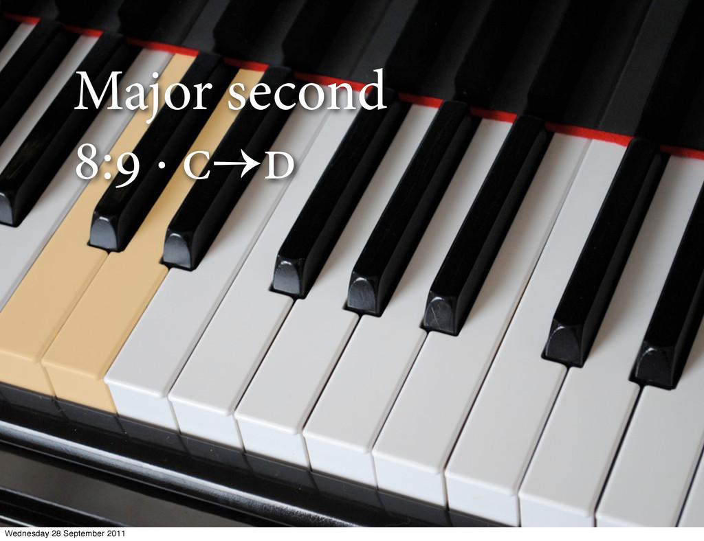 Major second : ·  Wednesday 28 September 2...