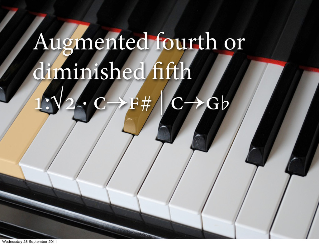 Augmented fourth or diminished fih :√ ·  ...