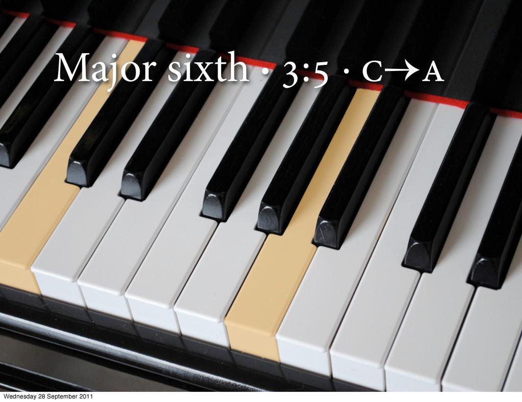 Major sixth · : ·  Wednesday 28 September ...
