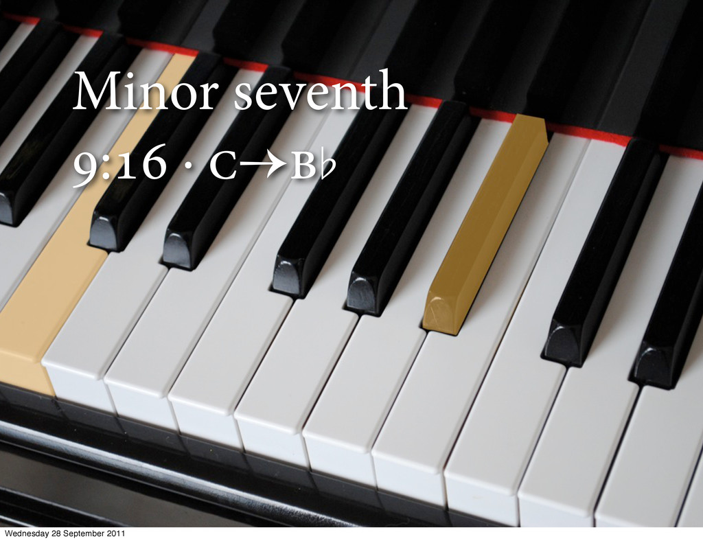 Minor seventh : · ̆ Wednesday 28 Septembe...