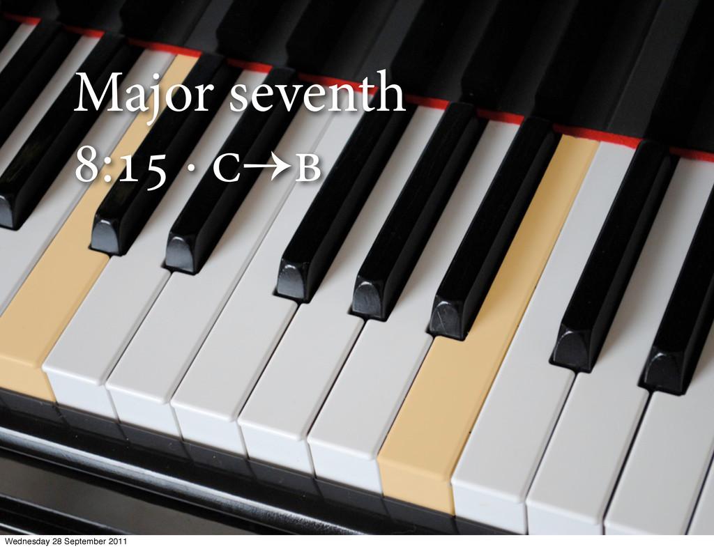 Major seventh : ·  Wednesday 28 September...
