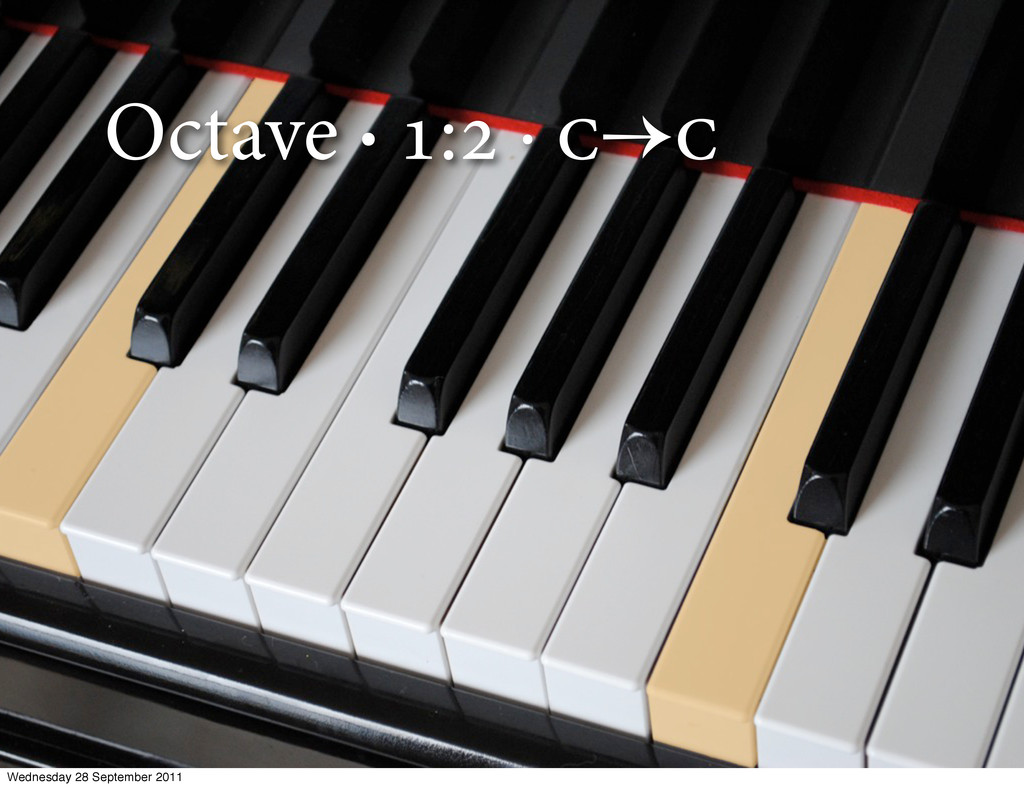 Octave · : ·  Wednesday 28 September 2011