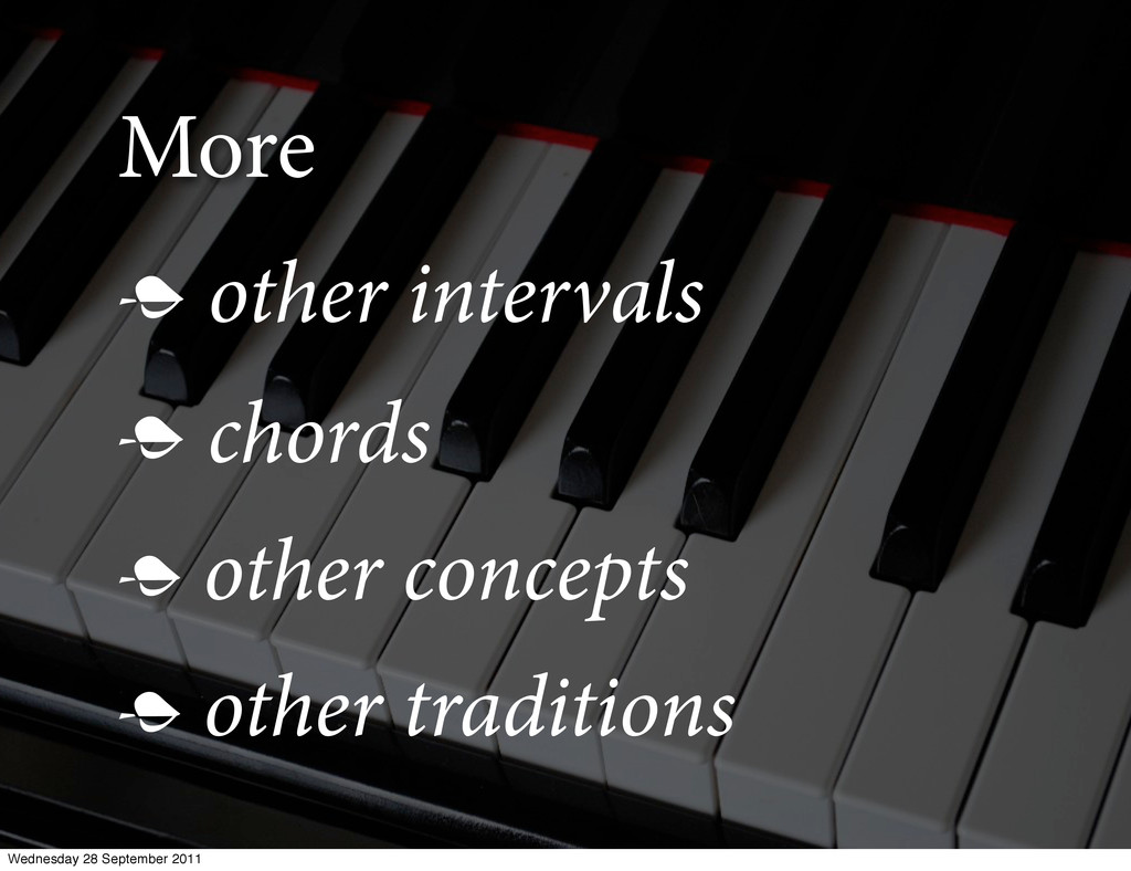 More  other intervals  chords  other concept...
