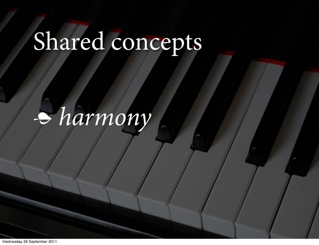 Shared concepts  harmony Wednesday 28 Septembe...