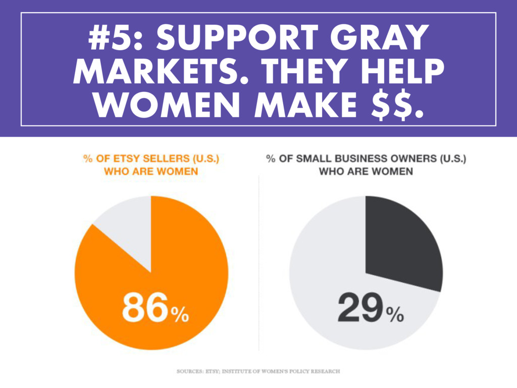 #5: SUPPORT GRAY MARKETS. THEY HELP WOMEN MAKE ...