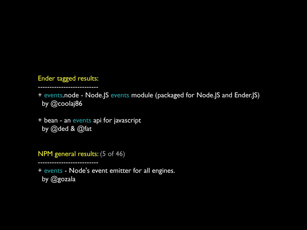 Ender tagged results: -------------------------...