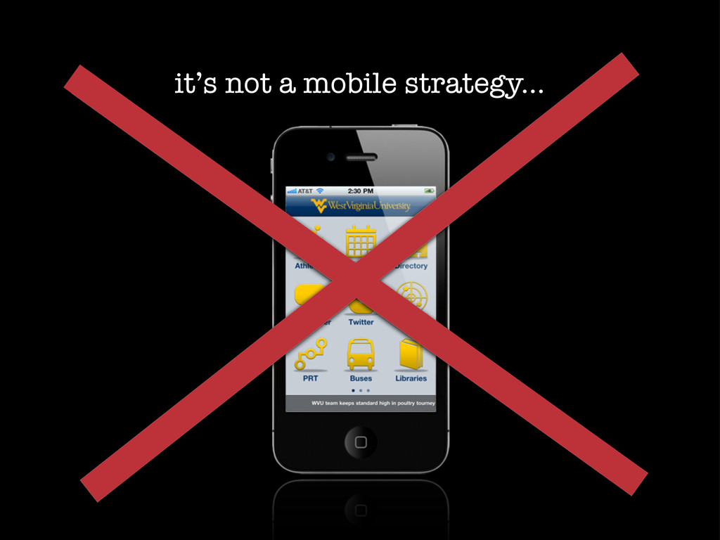 it's not a mobile strategy...