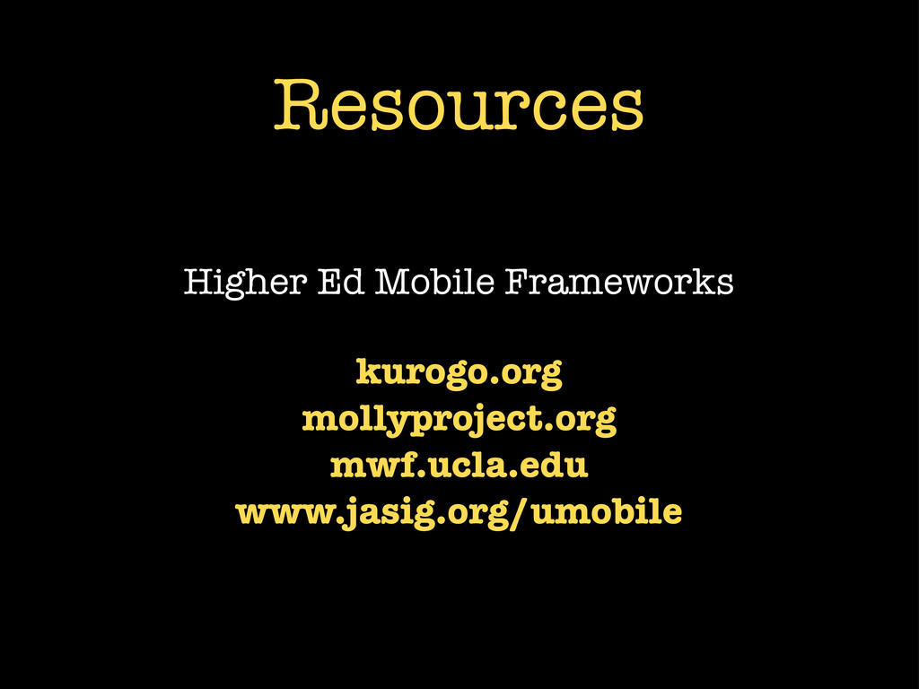 Resources Higher Ed Mobile Frameworks kurogo.or...