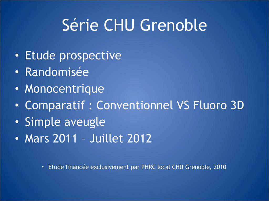Série CHU Grenoble • Etude prospective • Random...