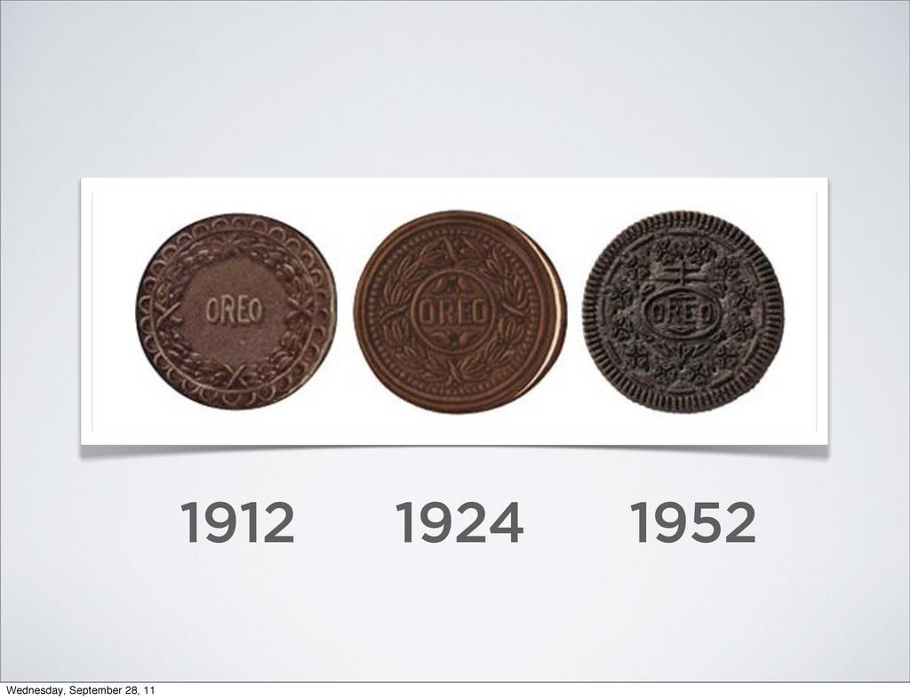 1912 1924 1952 Wednesday, September 28, 11