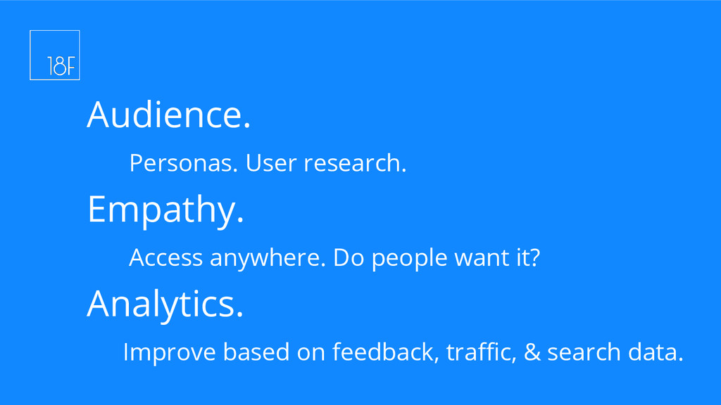 Audience. Personas. User research. Empathy. Acc...