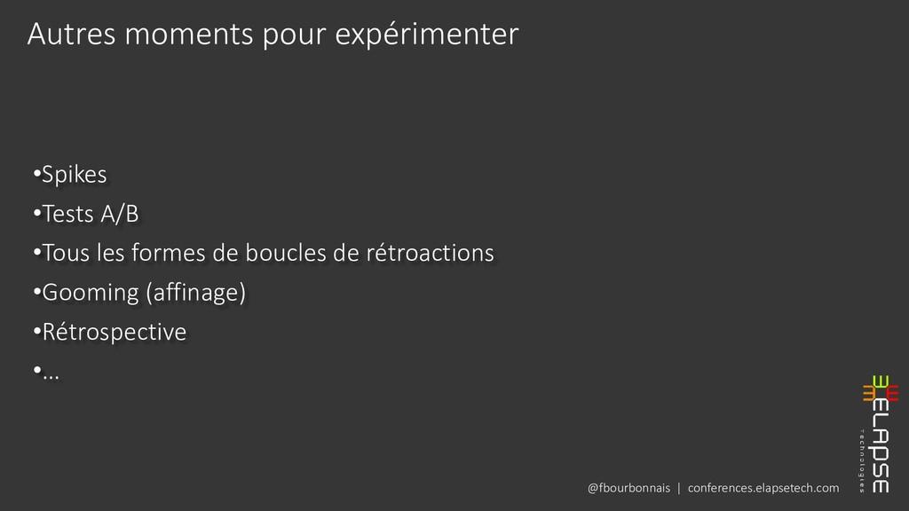 @fbourbonnais | conferences.elapsetech.com •Spi...