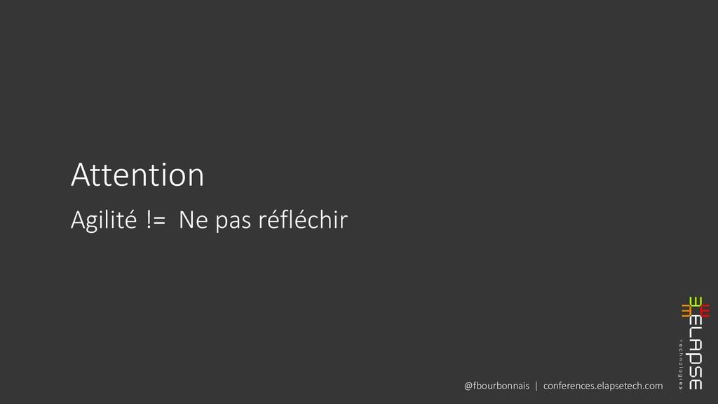 @fbourbonnais | conferences.elapsetech.com Atte...